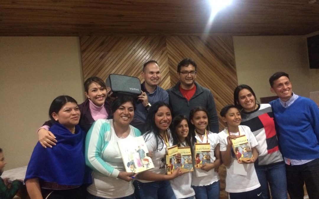 CHILDREN'S QUIZZING BEGINS IN THE NORTH MOUNTAIN DISTRICT OF ECUADOR
